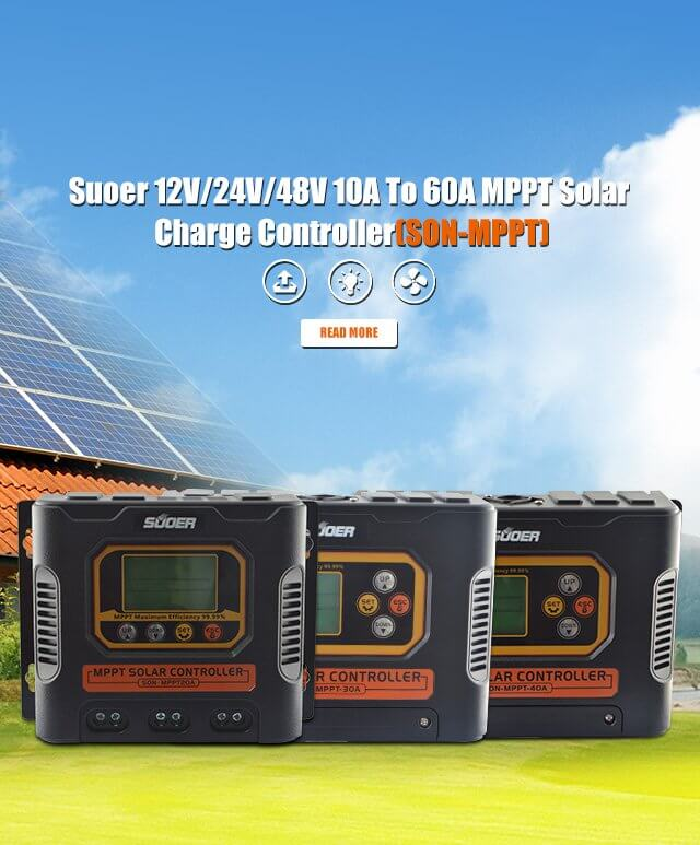 Suoer 12V/24V/48V 10A To 60A MPPT Solar Charge Controller