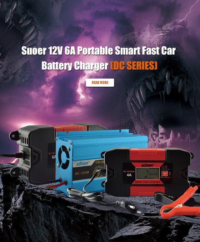 Suoer 40A 12V charger portable battery charger with Jump Start Function
