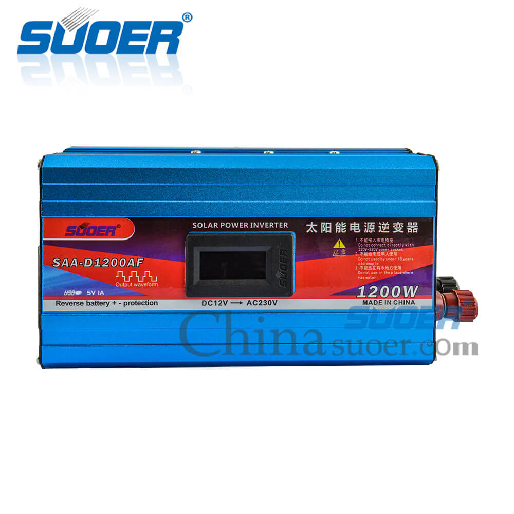 1200W 12V 230V Modified Sine Wave Inverter with Anti-reverse Protection