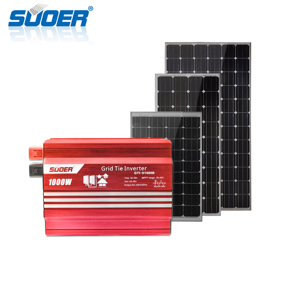 3000w On Grid Home Solar Power System Wiring Panels To Tie Inverter