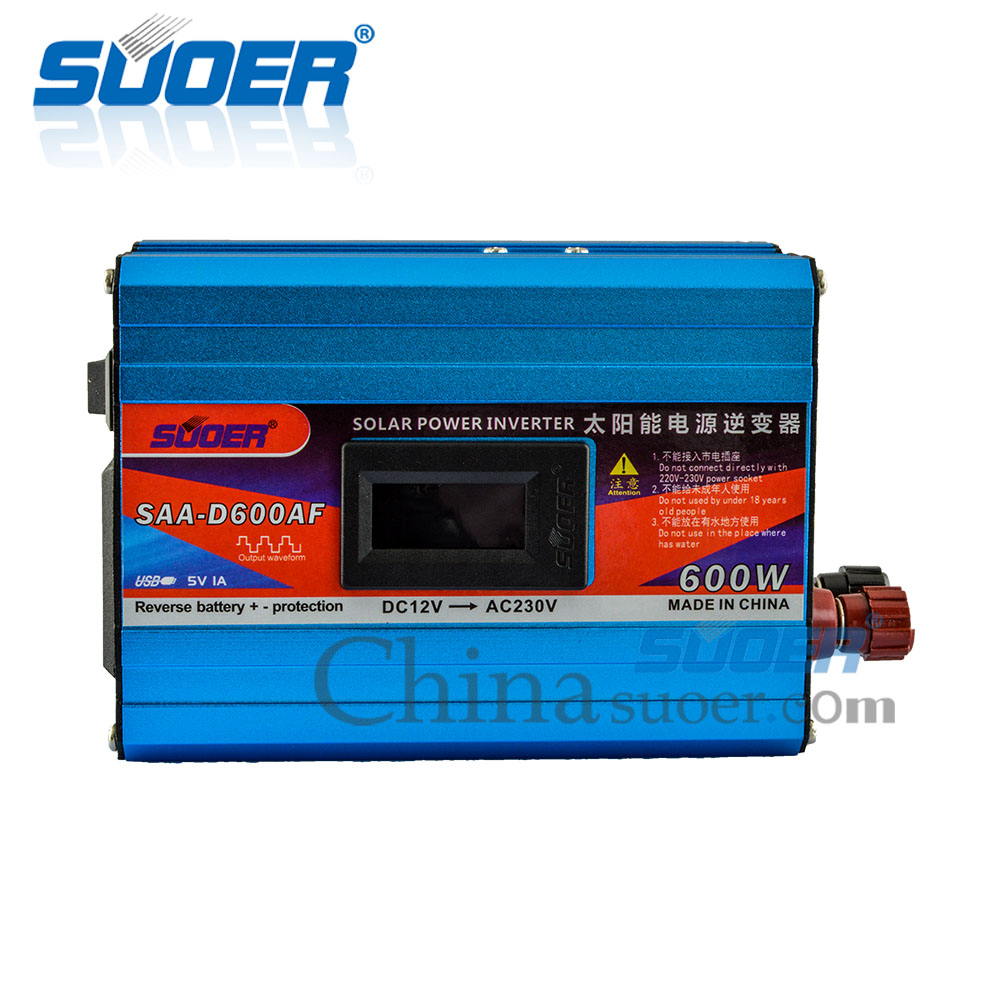 600W 12V 230V Modified Sine Wave Inverter with Anti-reverse Protection