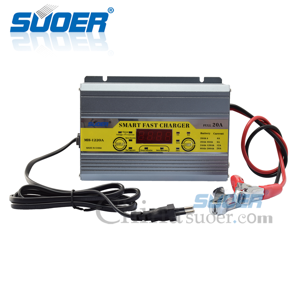 Suoer Smart Fast 12 volt Battery Charger 20 Amp Fully Auto Digital Battery Charger With Car Engine Start Function